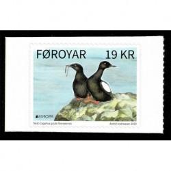 2019 Faroer Europa tematica Uccelli serie adesiva