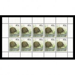 1988 Nuova Zelanda minifoglio brown Kiwi 40c MNH/**