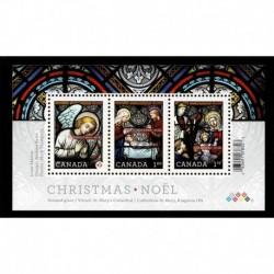 2011 Canada foglietto Natale - vetrate natività MNH/**