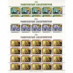1986 Liechtenstein I frutti dei campi - Fogli integri MNH/**