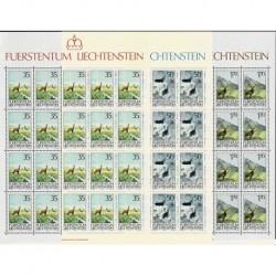 1986 Liechtenstein La caccia - Fogli integri MNH/**