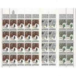 1986 Liechtenstein Cortecce degli alberi - Fogli integri MNH/**