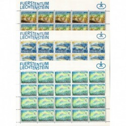 1987 Liechtenstein tematica Pesci - Fogli integri MNH/**