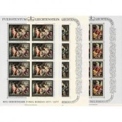 1976 Liechtenstein pittura Pietro Paolo Rubens - Fogli integri MNH/**