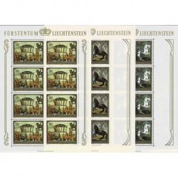 1978 Liechtenstein Quadri raffiguranti cavalli - Fogli integri MNH/**