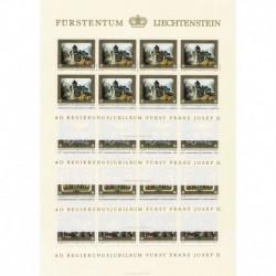 1978 Liechtenstein Principe Francesco Giuseppe II Vaduz - Fogli MNH/**
