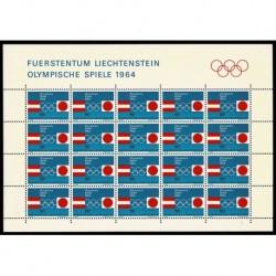 1964 Liechtenstein Olimpiadi di Innsbruck e Tokyp - Foglio MNH/**