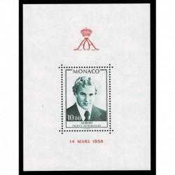 1979 Monaco compleanno Principe Alberto - foglietto MNH/**
