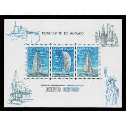 1985 Monaco prima regata Monaco-New York - foglietto MNH/**