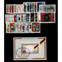 1974 Germania Federale annata completa 34val + 1 BF usati