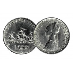 Repubblica 500 Lire 'Caravelle' in Argento 835 (11gr)