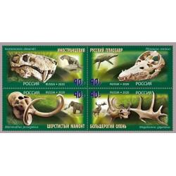 2020 Russia Patrimonio Paleontologico - Dinosauri
