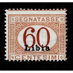 1915 Colonie Libia Segnatasse 60cent Sas.7 MH/*