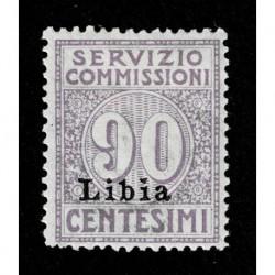 1915 Colonie Libia Servizio Commissioni 90cent Sas.3 MH/*