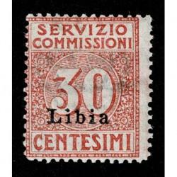 1915 Colonie Libia Servizio Commissioni 30cent Sas.1 MH/*