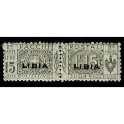 1915 Colonie Libia Pacchi Postali 15 Lire Sas.12 MH/*