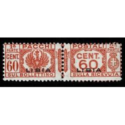 1927 Colonie Libia Pacchi Postali 60 cent Sas.18 MNH/**