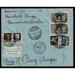 1932 Posta Aerea da Savona a Basilea Ugo Foscolo