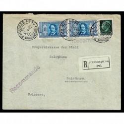 1932 Raccomandata Firenze Solothurn Svizzera Pro società Dante Alighieri
