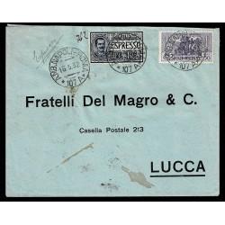 1932 Espresso Ambulante Napoli-Roma per Lucca annulli transito