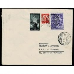 1950 Lettera per Parigi in tariffa Sas.620 anno Santo + democratica