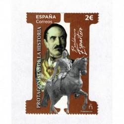 2020 Spagna Baldomero Espartero fustellato unusual stamps