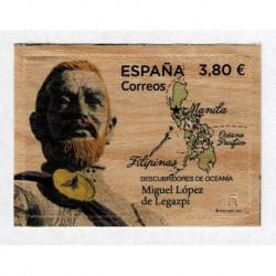 2020 Spagna Miguel López de Legazpi in legno unusual stamps