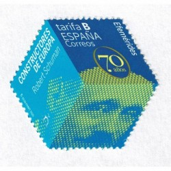 2020 Spagna Robert Schuman esagonale fosforescente unusual stamps