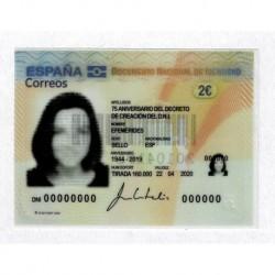 2020 Spagna carta identità poliestere unusual stamps