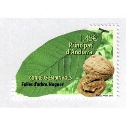 2018 Andorra spagnola foglia di noce unusual stamps