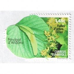 2018 Andorra spagnola foglia di tiglio unusual stamps