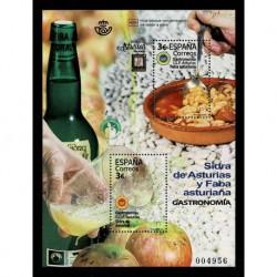 2020 Spagna gastronomia foglietto sapore di sidro unusual stamps