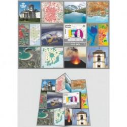 2020 Spagna istituto geografico foglietto pieghevole unusual