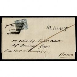1865 Pontificio 2Baj Sas.3Ab grigio azzurrastro Subiaco