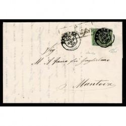 1854 Pontificio 2Baj Sas.3b stampa oleosa Ferrara a Mantova