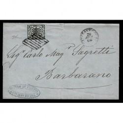 1866 Pontificio 2Baj Sas.3Ab grigio azzurrastro Civitavecchia Barbarano