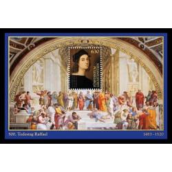 2020 Liechtenstein 500° anniversario Raffaello foglietto