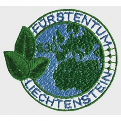 2020 Liechtenstein francobollo ricamato filo PET riciclato - Unusual stamps