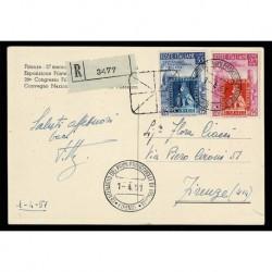 1951 primi Francobolli di Toscana Cartolina raccomandata celebrativa