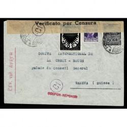 Lettera da Rodi a Ginevra palazzo del consiglio Croce Rossa