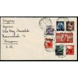 1947 Lettera Firenze - Herisau Svizzera bella affrancatura Democratica