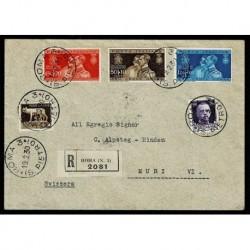 1930 Raccomandata nozze Principe Umberto oer Svizzera
