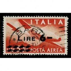 1947 Repubblica Posta Aerea Democratica soprastampato 6 Lire Sas.A135