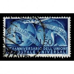 1949 Repubblica 75º anniversario dell'U.P.U. Sas.599 usato