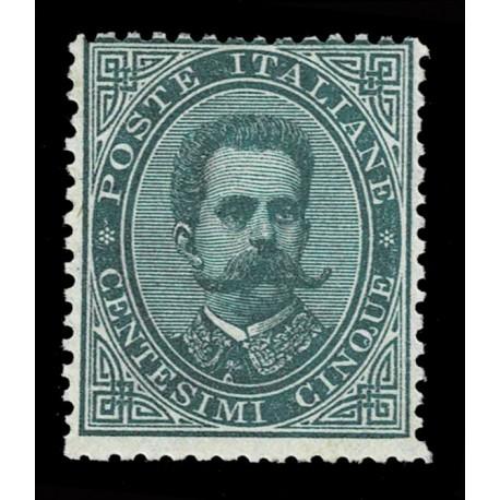 1879 Regno Umberto I 5cent Sas.37 nuovo MH/*