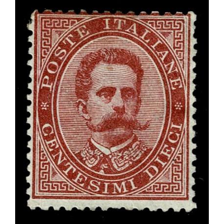1879 Regno Umberto I 10 cent Sas.38 nuovo MH/*