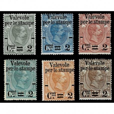 1890 Regno Francobolli per Pacchi Postali soprastampati nuovi MH/*