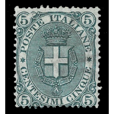 1891 Regno stemma sabaudo 5cent Sas.59 nuovo SG