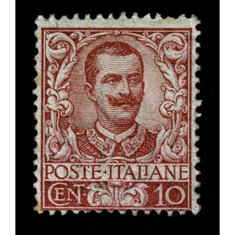 1901 Regno Floreale 10cent Sas.71 nuovo MH/*