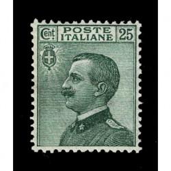 1927 Regno 25cent Sas.219 tipo Michetti nuovo MH/*
